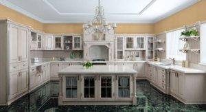 Кухня ТЕМЗА , Массив дуба с декоративной калевкой и петлями, имитирующими вкладной фасад, italion Италия