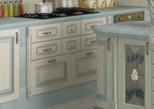 Кухня Искья Синяя, Массив ясеня, makberry Италия