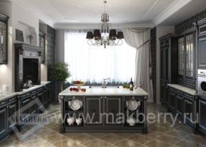 Кухня Афина Неро, Массив ясеня, Италия
