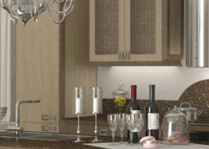 Кухня Гестия, ДСП, облицованная шпоном дуба, makberry Италия