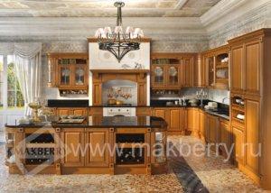 Кухня Триесте Массив Red Alder (красная ольха), Производства Италии.