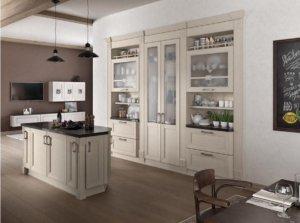 Кухня Кватро песочный, Массив ясеня, Italion Италия