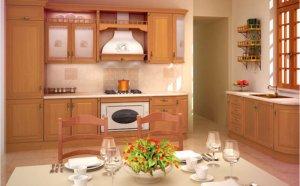Кухня Исола, Массив канадская берёза, Италия