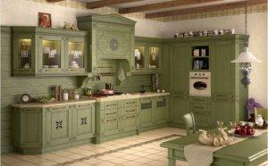 Кухня Флореале-Верде Массив ясеня, Италия