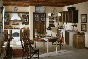 Кухня Роза Массив ясеня тонирование под тёмный орех ilcam Италия