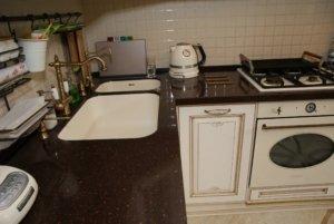 Кухня белая патина золото Афина Оро
